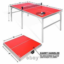 Gosports Taille Moyenne 6 X 3 Pieds De Tennis De Table Jeu De Ping-pong (boîte Ouverte)