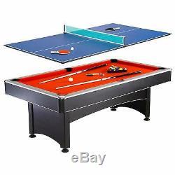 Hathaway Maverick 7 Pieds Piscine / Tennis De Table Jeu Feutre Rouge Et Bleu Surfaces
