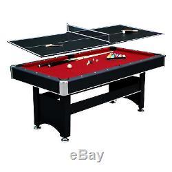 Hathaway Set De Table De Billard De Billard 6 Pi Avec Plateau De Tennis De Table Noir Rouge Nouveau