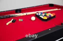 Hathaway Spartan 6' Pool Table, Billard + Plateau De Tennis 72 L X 38 W X 31 H