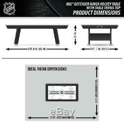 Hockey Sur Coussin D'air Avec Tennis De Table Top 80 NHL Fun Jeu Intérieur Activité 2-in-1