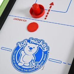 Homcom 4 In 1 Folding Play Hockey, Football, Tennis De Table, Piscine Pour Enfants Adolescents