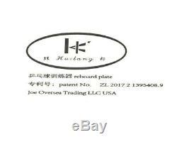 Huilang Ping-pong Reboard Table De Plaque Entraîneur Bord De Retour De Tennis (modèle Stand)