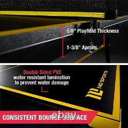 Indoor Tennis Ping Pong Table Set Foldable Official Size Black Yellow 9' X 5