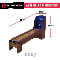 Jeu De Balle Skee 9' Roll & Score, Led Lights, Arcade Sound Fx, Skeeball MD Sports