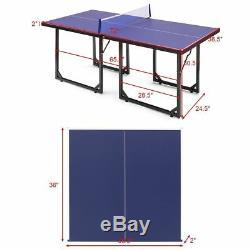 Jeu De Jeu De Table De Ping-pong Compact De Taille Moyenne À L'intérieur