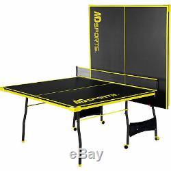 Jeu De Taille De Tournoi De Tennis De Table Pliant De Ping-pong Réglé De Sport En Salle