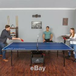 Jeu De Taille De Tournoi De Tennis De Table Se Pliant De Ping-pong Réglé De Sport En Salle Avec Des Roues