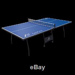 Jeu De Taille De Tournoi Pliant De Tennis De Table De Ping-pong Réglé Roues De Salle De Sport D'intérieur
