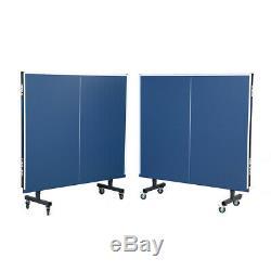 Joola 11110 Visite 1800 Intérieur 18mm Table Pliante De Tennis De Table Avec Filets, Bleu