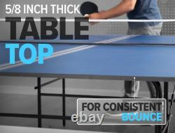 Joola Ping Pong Table Indoor Table Tennis Regulation Size Game Room Blue New