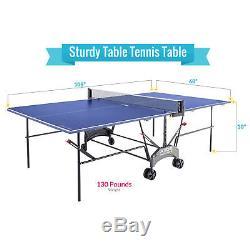 Kettler Outdoor Table De Ping-pong Axos 1 Avec Kit D'accessoires Pour L'extérieur
