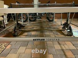 Kettler Topstar XL Table Intérieure / Extérieure Tennis Ping Pong Blue Top Made Germany