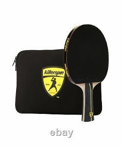 Killerspin Jetblack Combo Paddle De Tennis De Table Avec Étui À Manches Noires
