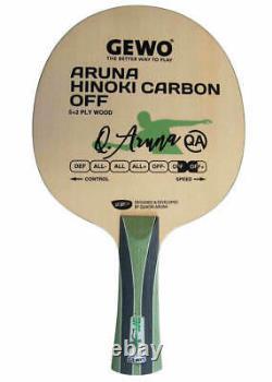 Lame De Tennis De Table Gewo Aruna Hinoki Carbon Off, Manche Fl