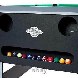 Lancaster 4 En 1 Bowling, Hockey, Tennis De Table, Table De Jeu D'arcade De Piscine, Noir