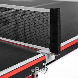 Lancaster 4 Pièces Taille Officiel Pliante Tennis De Table De Ping-pong Table De Jeu, Noir