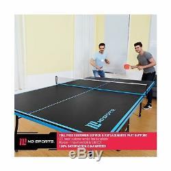 MD Sport Officiel Taille De La Table De Tennis De Table, Avec Paddle Et Boules, Noir / Bleu