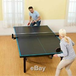 MD Sport Taille Officiel 2 Pièces Tennis De Table Table Avec Couverture