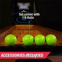 MD Sports 9 Ft. Roll And Score Table Arcade Jeu Comprend 4 Skee-ball Led Light