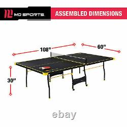 MD Sports Official Size 15mm 4 Piece Indoor Table Tennis, Accessoires Inclus