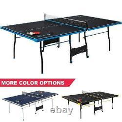 MD Sports Taille Officielle 15 MM Table De Tennis De Table Intérieure, Surface 4 Pièces, Pagaie