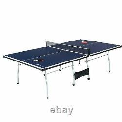 MD Sports Taille Officielle 15mm 4 Pièces Tennis De Table Intérieure, Accessoires Noir/bleu