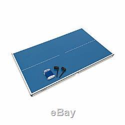 MIDI Tischtennistisch Intérieur, 75x75x125 Tischtennisplatte Für Wohnung & Garten
