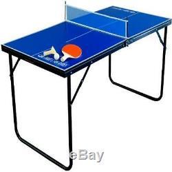 Mini Table De Ping-pong En Salle Avec Pagaies Et Balles