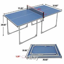 Mini Taille De La Table De Ping-pong De Ping-pong Pour Les Petits Espaces Et Appartements