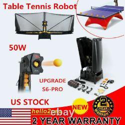 Mise À Jour S6-pro Ping Pong Tennis Tennis Robot Automatic Ball Machine Recycle Net