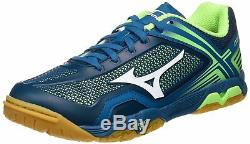 Mizuno Tennis De Table Chaussures Wave Médaille Z 81ga1710 Marine Verte Us9.5 (27.5cm)