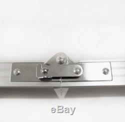 New Beer Pong Table 8' Pliant En Aluminium Intérieur Extérieur Hayon Jeu Potable