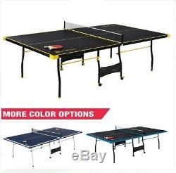 New Taille Officielle Tennis De Table De Ping-pong Intérieure Avec 2 Paddle Et 2 Balles