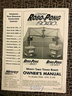 Newgy Robo Pong 2040 Tennis De Table Robot En Excellent État