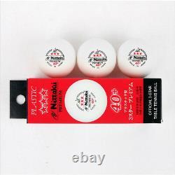 Nittaku 3 Étoiles Hardball 40 MM 3 Balles White Table Tennis Ping Pong Nb-1300