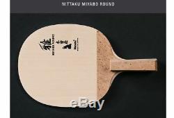 Nittaku Miyabi Ronde Penhold Tennis De Table, Ping Pong Racket, Made In Japan