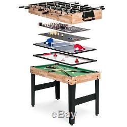Nouveau 10-in-1 Combo Jeu Set De Table Avec Billard, Baby-foot, Ping-pong, & More 2'x4