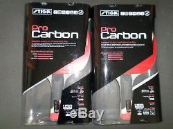 Nouveau 2 Stiga Pro Carbon Qualité Supérieure Tennis De Table De Ping-pong Paddle