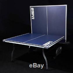 Nouveau Espn Officiel Taille Ping Pong Table De Tennis De Table En Métal 4 Pièce Pliante À L'intérieur
