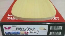 Nouveau Papillon Japon Senkoh-1 Noir Un Penhold Raquette De Tennis De Table Hinoki Lame