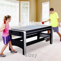 Nouveau Table De Jeu Pivotante Combinée 72 Tennis De Table De Hockey Sur Glace Espn 4 En 1 + Accessoires