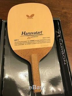 Papillon Haruvatart Zl Carbone J-pen Penhold Tennis De Table De Ping-pong Lame Hinoki