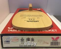 Papillon Kim Taek Soo Lentille Rouge Super Rare Lame De Tennis De Table