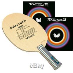 Papillon Viscaria Tennis De Table Lame Fl Poignée Avec Tenergy 05 2.1mm Red & Blk