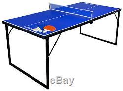 Park Et Sun Mini Pliant Tennis De Table, 30 X 60 Pouces, 2 Pagaies Et 2 Balles