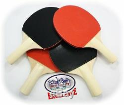 Ping Pong Paddles Ensemble De 4 Balles De Tennis De Table Pour Joueur, Balles De Raquette Avec Sac De Rangement