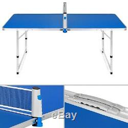 Ping Pong Portable Tennis De Table Pliante Camping Pique-nique Jeu Pagaies Net Sport Us