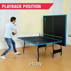 Ping Pong Table De Tennis Pliante De Taille Énorme Jeu Ensemble Sport Intérieur Ensemble Complet