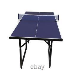 Ping Pong Table Tennis Foldable Jeu Set Accueil Famille Intérieur Extérieur Play 6'x3